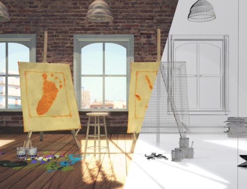 3D Interior design: my old collaboration with the communication agency 'H.O.U.S.E. Comunica'